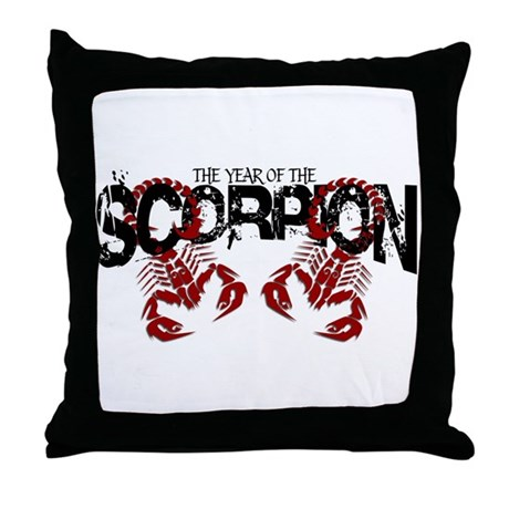 Year of the Scorpion Throw Pillow