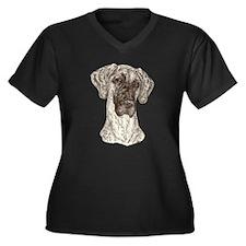 N Brdl Dots Women's Plus Size V-Neck Dark T-Shirt