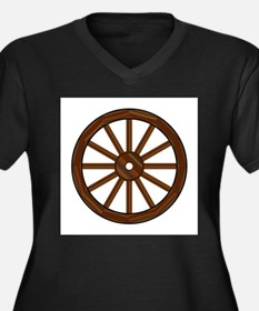 Covered Wagon Wheel Plus Size T-Shirt