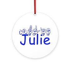 Julie Ornament (Round)