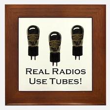 Real Radios Use Tubes! Framed Tile