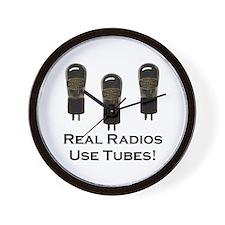 Real Radios Use Tubes! Wall Clock