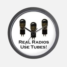 Real Radios Use Tubes! Wall Clock