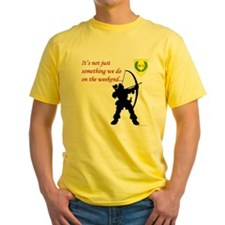Not Just Archery Yellow T-Shirt