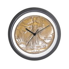 Walking Liberty Half Dollar Wall Clock