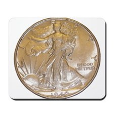 Walking Liberty Half Dollar Mousepad
