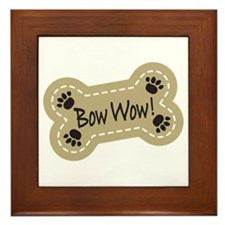 Bow Wow! Framed Tile