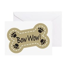 Bow Wow! Greeting Card