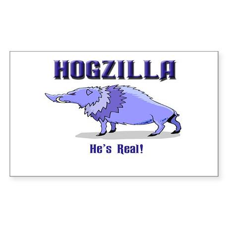 HOGZILLA... He's Real Rectangle Sticker