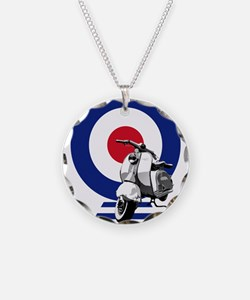 Mod Target Scooter Necklace