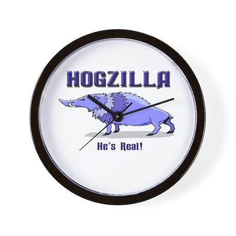 HOGZILLA... He's Real Wall Clock