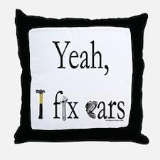 Cute Fix cars Throw Pillow