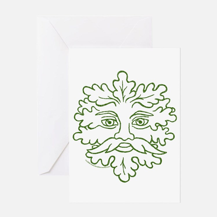 Weathered GreenMan Greeting Card
