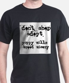 Don't Shop, Adopt - Ash Grey T-Shirt