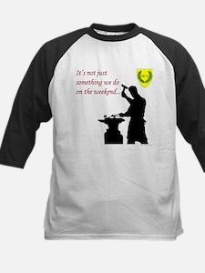 Not just Blacksmithing Kids Baseball Jersey