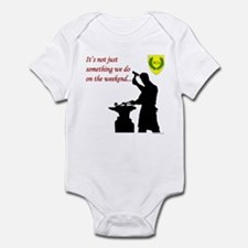 Not just Blacksmithing Infant Bodysuit
