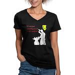 Not just Blacksmithing Women's V-Neck Dark T-Shirt