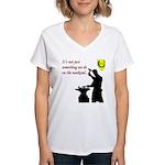 Not just Blacksmithing Women's V-Neck T-Shirt