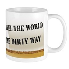 I travel the world the dirty Small Mug