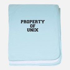 Property of UNIX baby blanket