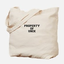 Property of UNIX Tote Bag