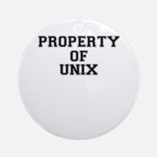 Property of UNIX Round Ornament