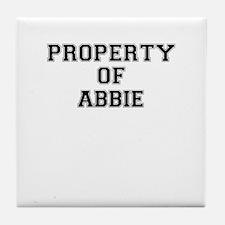 Property of ABBIE Tile Coaster