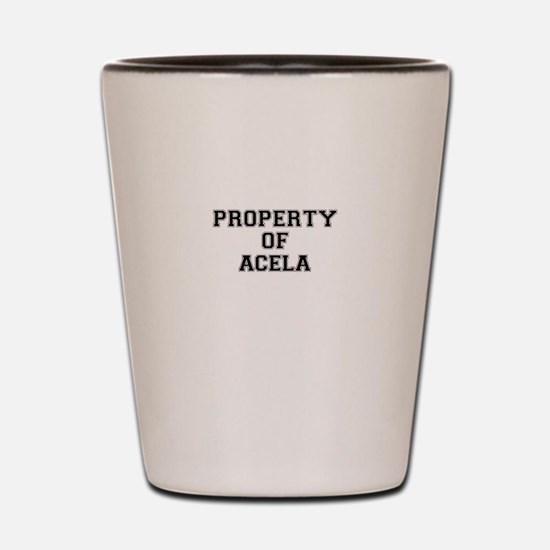 Property of ACELA Shot Glass