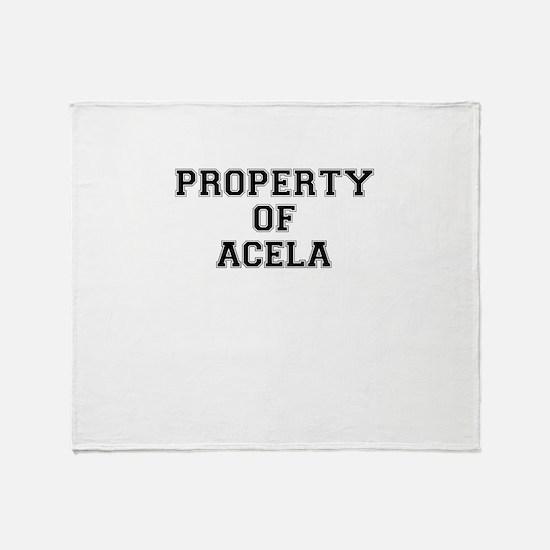 Property of ACELA Throw Blanket