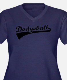 Dodgeball Women's Plus Size V-Neck Dark T-Shirt