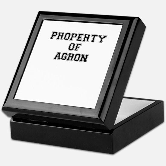 Property of AGRON Keepsake Box