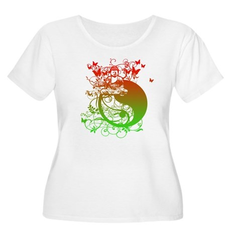Buddha Design in Red and Gree Women's Plus Size Sc