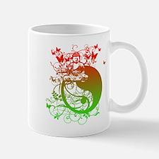 Buddha Design in Red and Gree Mug