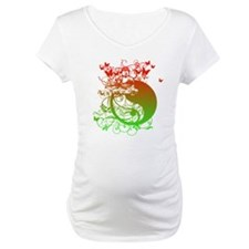 Buddha Design in Red and Gree Shirt