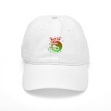 Buddha Design in Red and Gree Baseball Cap
