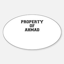 Property of AHMAD Decal