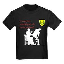 Not Just Scribal Arts Kids Dark T-Shirt