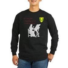 Not Just Scribal Arts Long Sleeve Dark T-Shirt