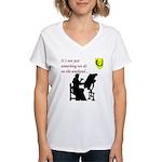 Not Just Scribal Arts Women's V-Neck T-Shirt