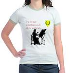 Not Just Scribal Arts Jr. Ringer T-Shirt