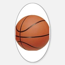 Cute Teens basket ball Sticker (Oval)