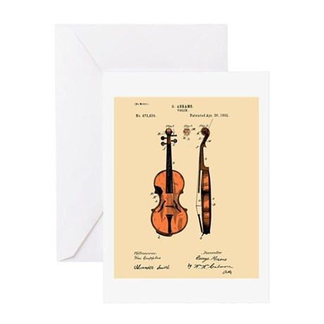 Fiddle (Full) Patent Greeting Card