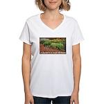 Garden is a work of heart Women's V-Neck T-Shirt