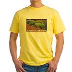 Garden is a work of heart Yellow T-Shirt