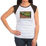 Garden is a work of heart Women's Cap Sleeve T-Shi