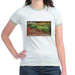 Garden is a work of heart Jr. Ringer T-Shirt