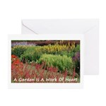 Garden is a work of heart Greeting Cards (Pk of 20