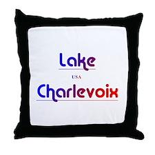 Lake Charlevoix Throw Pillow