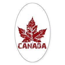 Cool Canada Souvenir Oval Decal