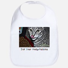 StacyJMT MyPaws Baby Bib with cat